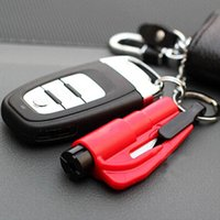 Wholesale New Car Auto Emergency Safety Hammer Belt Window Breaker Key Chain Escape Tool