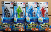 bass swimming - LED Robo Fish Electronic Pet Robot Fish Magical Turbot Educational Pet Electronical Toy Mech Bass Swimming Sharks Creative Baby toys by DHL