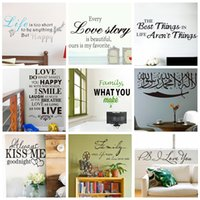 wall quotes - DHL Ship Mix Order Removable Wall Quotes Stickers Vinyl Quotes Wall Decal and Saying Home Decoration Wall Art Family Love Quote Lettering