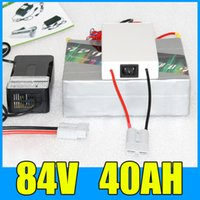 Wholesale 84V AH Lithium Battery Pack BMS Charger W RC Electric bicycle scooter V lithium battery