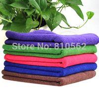 Wholesale cmx30cm Microfiber Car Cleaning Towel Car wash Cloth Hand Towel suit for new car RIO tiguan Niva fiesta10pcs
