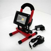 Wholesale 2016 W Red green blue LED Rechargeable Flood Light can work hours outdoor lighting portable light rechargeable lamp emergency light