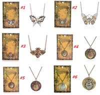 bee pendant - 2015 New Vintage Steampunk Butterfly Bees Beetle Gear Pendant Necklace Retro Punk Jewelry For Men Women
