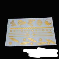Wholesale 2014 New Luxury Gilding Sticker Waterproof Butterfly Feather Sexy Tattoo