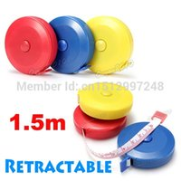 Wholesale Best Promotion M Retractable Flexible Body Metric Markings Ruler Tape Measure Sewing Cloth Dieting Tailor
