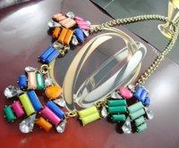 Wholesale Newest Design Resin Flower Choker Necklace Ethnic Fashion Classic Chain Statement Bib Chunky Wedding Jewelry Hot Sale Women Pendent