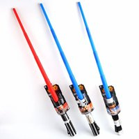Wholesale 100PCS LJJH892 Star Wars hasbro Lightsaber scalable three star war light saber children s Christmas gifts and holiday gifts