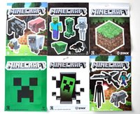Wholesale 2Sets Set Sheets Minecraft Stickers Creeper and other Character In Stock Same Day