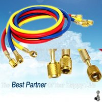 Wholesale 3pcs quot ft quot SAE PSI Color Coded Charging Hoses AC Refrigerant Manifold R410a m Diagnostic A C HVAC Tools order lt no track