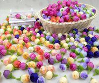 artificial rose buds - 500pcs quot Rose Buds Artificial Silk Flower Heads For Wedding Home Bridal Bouquet Decoration