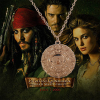 good quality jewelry - Pirates of the Caribbean necklaces pendants good quality Gold skull necklaces for gift retro jewelry low price part state free DHL