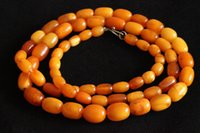 Wholesale Lovely Antique Necklace very old Antique Art Deco Natural Baltic Butterscotch Egg Yolk Amber Beads Necklace