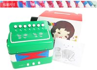 Wholesale Children s toys Mini accordion music early stage musical puzzle piano paint send music