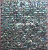 Wholesale 24 sheets Green abalone shell tile on Mesh with Ceramic Tile Base Backsplash tiles wall tile green mosaic tiles