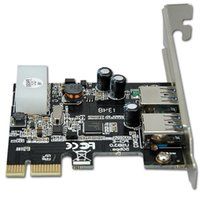 Wholesale 2 Port USB PCI Exp Adapter SB device interface USB Standard A Port x2 card USB3 Gbps USB2 Mbps