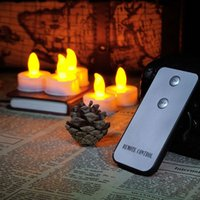 Wholesale Smokeless Flameless Electronic Flash night tea lamp Romantic remote control led candle light with remote Weding Party DIY Decor