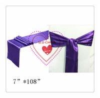 bachelorette party purple - purple Satin Chair Sash For Wedding Decoration bachelorette party chair Satin Sash