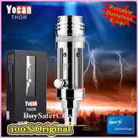 technology - Origina Yocan thor Portable Enail e nail Wax Vaporizer glass water pipes nail vaporizer pen smoking bong with Nero technology DHL free