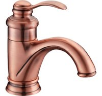 Wholesale Cloud Power Red Bronze Bathroom Basin Taps with Deck Mounted Antique Brass Bathroom Sink Faucet Hot and Cold