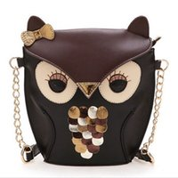 leather owl purse - New Women Leather Messenger Satchel Bags Owl Fox Shoulder Bag Crossbody Purse High Quality Cartoon Mini Messenger Bags