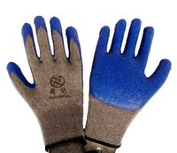 latex coated gloves - Premium High Visibility All Purpose Knit Glove with Textured Latex Coating Gripping Gloves Safety Work Garden Gloves Pairs Medium