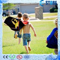 Wholesale 50 cm Back Super Hero Costume for Children w Cape Mask Multi Heros Halloween Birthday Party Supplies wu