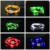 Cheap 5th Generation Luminous Glowing Flat Nylon LED flashing flash shoelace shoestring shoelaces shoe laces High Quality & FAST SHIPPING
