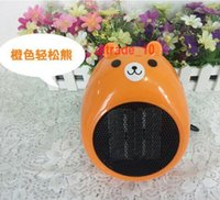 Wholesale 200 BBA5056 Cat bear shape Fan heaters Mini cartoon Mini Heater Valentine Gift With Holder desktop Cartoon heater Creative miniature heaters