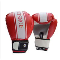 golf gloves leather - 1pair MMA Boxing Glove PU Leather with EVA Lining Sports Fighting Golves for Training Competition LB