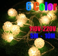 pine cones - Details about M M LED Pine Cone String Fairy Light Christmas Tree Party Decor Color AU50