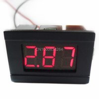 Wholesale Mini quot Two Wires Digital Voltmeter Red LED Display DC4 V Voltage Meter