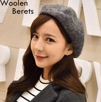Wholesale Autumn Winter Woolen Beret Retro British Painter Cap newsboy hat Wool Fedora Hat Caps