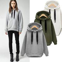 Wholesale 2015 New Winter Autumn Loose Hooded Jacket Plus Size Thick Velvet Long sleeve Sweatshirt Korean Style Hoodies