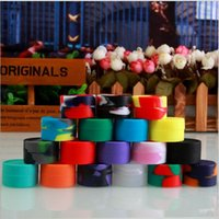 Wholesale 7ML Nonsolid Color Wax Dry Herb Jars Round Shape Silicone Container for Wax Silicone Jars Dab Wax Container E Cigarette