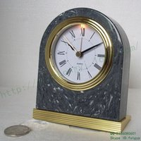 antique marble clocks - Supply of antique marble arch shaped L shaped desk clock table clock automatically muted lighting Roman numeral desk clock