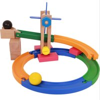 baby coasters - Wooden Toy Roller Coaster Tracks Blocks Assemble DIY changeable combination Disassemble toys Enlightenment Baby Kids Developmental Toy