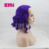 afro blue - New Arrival Synthetic Afro Wigs Lace Front Wigs Heat Resistant Long Tone Ombre Colors Bodywave Silk Slight Wigs For Black Women