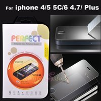 Wholesale For iphone Plus inch Premium Real Tempered Glass Film Screen Protector for iPhone S S C