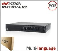 Wholesale Hikvision DS N E4 P Network CH NVR with POE Interface IP Camera Network Video Recorder Multi language SATA for HDD DHL Free Ship