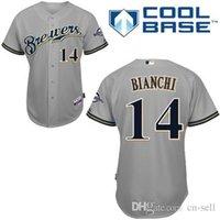 bianchi shorts - 2016 Milwaukee Brewers Jeff Bianchi Grey Cool Base Baseball Jerseys Personalized Customized Jerseys