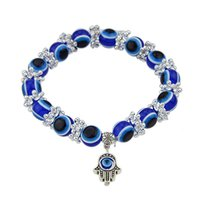 Wholesale Hand Pendant Decoration Blue Color Beads Bracelet Pulseiras for Women Bracelets and Bangles Boho Jewelry