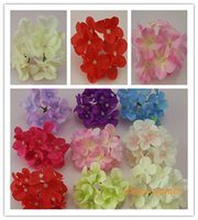 Wholesale 11CM Artificial Hydrangea Decorative Silk Flower Head For DIY Hair Flower Home Decoration accessory props