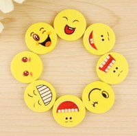 Wholesale 500PCS LJJH882 Cute smiling face eraser emoji eraser smile lovely eraser funny face eraser smile style rubber Kids gift creative stationery