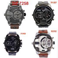 time clock - 2015 hot Best Selling DZ Men s atmos Clock Leather Strap Watches Full Men Watch Steel Military Quartz Men s sports Wristwatch Men s Watches