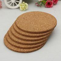 Wholesale 6pcs Round shape Plain Cork Coasters Drink Wine Mats Cork Mats Drink Wine Mat cm cm ideas for wedding and party gift