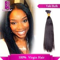 virgin hair bulk - Afro Hair Yaki Hair Bulk Hair Russian Hair Bulk Hair A Quality Best Hair Extension Bundle Only Bulk Hair In B Color