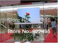 advertising costs - Free Delivery Cost Transparent Rear Projector Screen For D Holo Display Shop windows Advertising Hot Sale Wholesales