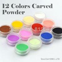 Wholesale Supernova Sale d Nail Art Decorations Colors Carving Pattern Powder Colorful Acylic Carved Powder Nails Decoration C001
