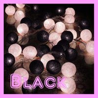 best black light bulb - Best Price black white Fabric Cotton Ball for M String Fairy Lights Xmas Wedding Holiday Party Home Decoration Lamp Bulb