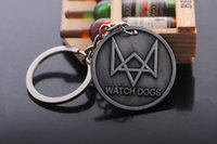 Wholesale Watch Dog Keychain European and American Game key rings alloy pendant watchdog Logo Gun color fashion key chain ornaments Accessories
